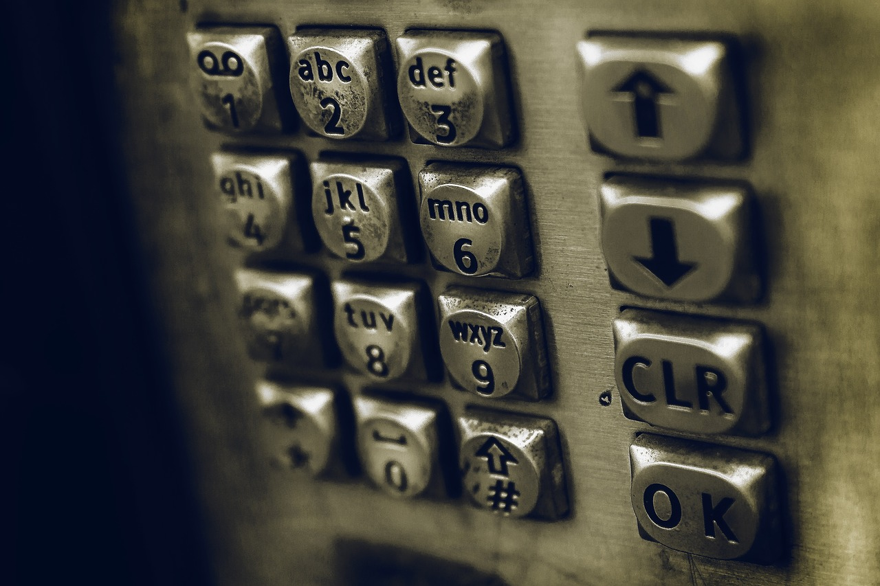 Image of keypad from a payphone